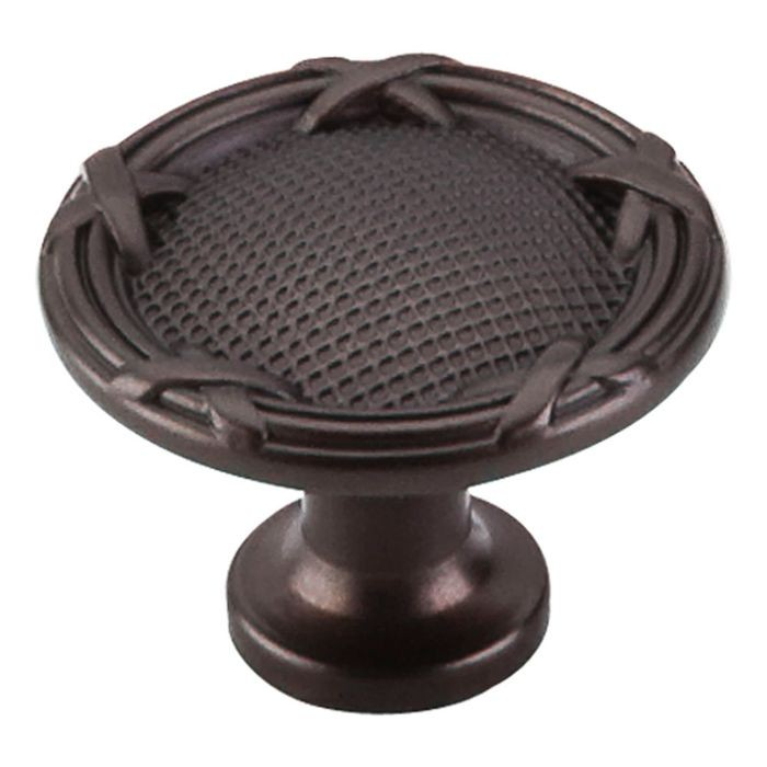 "Ribbon & Reed Knob 1 1/4"" Dia Oil Rubbed Bronze"