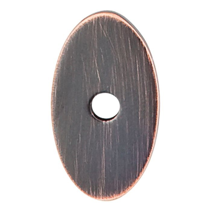 "Small Oval Backplate 1-1/4"" L Tuscan Bronze"