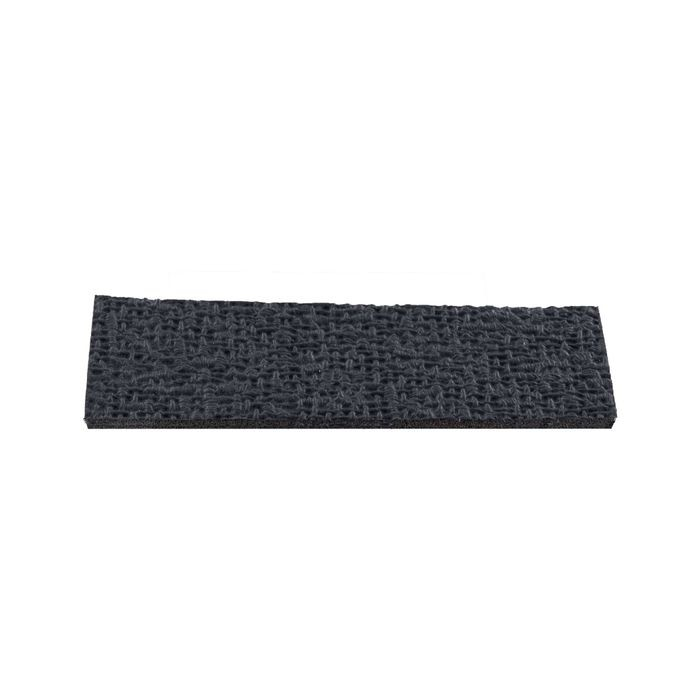 "1"" High x 3"" Wide x 1/16"" Thick Embossed Black Thermoplastic Rubber Square Non-Skid Pad"