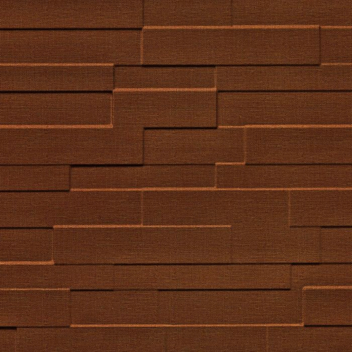 10' Wide x 4' Long Tetrus Pattern Linen Chocolate Finish Thermoplastic Flexlam Wall Panel