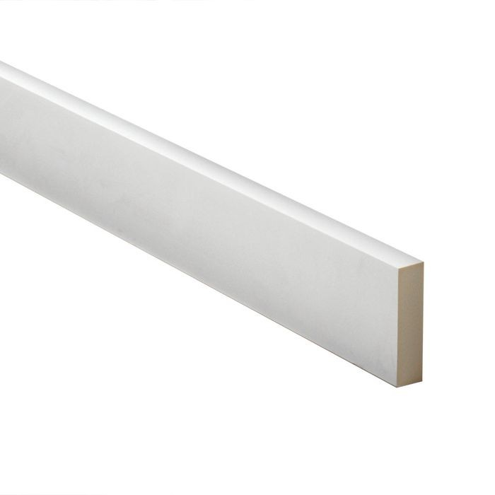 "11-1/2"" High x 3/4"" Projection Primed Neutral Oatmeal Polymer Panel Moulding 12' Length"