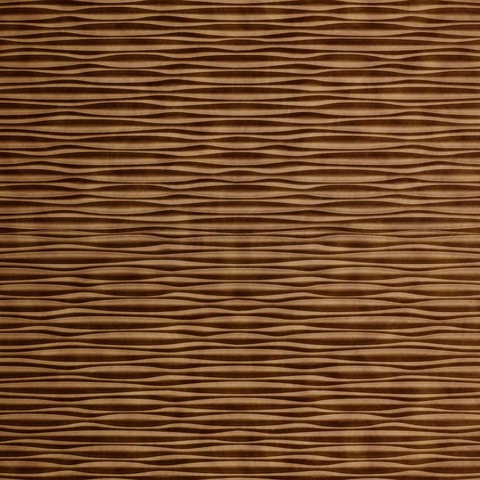 10' Wide x 4' Long Mojave Pattern Antique Bronze Finish Thermoplastic Flexlam Wall Panel