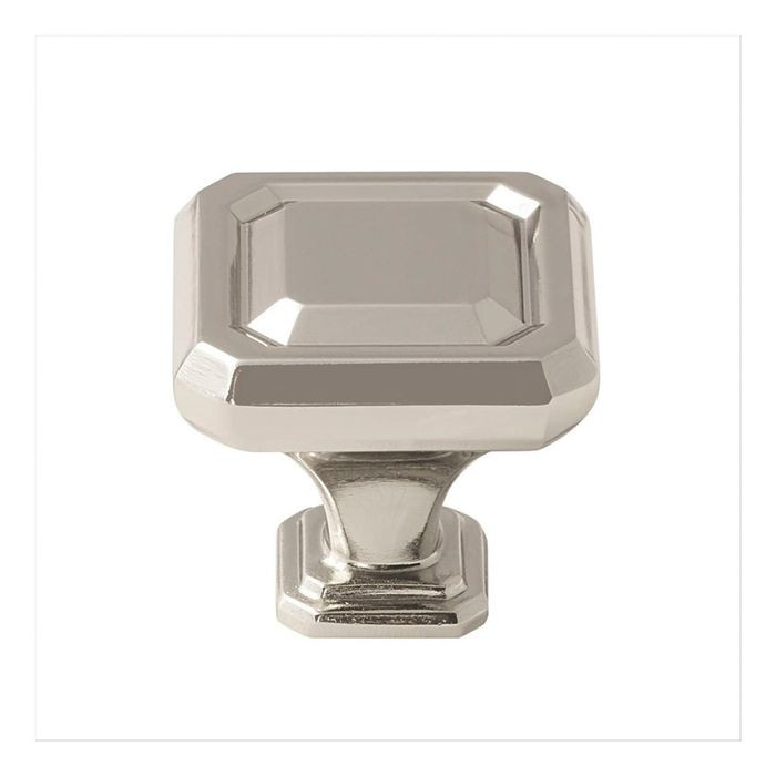 "1 1/4"" Square Knob Polished Nickel"