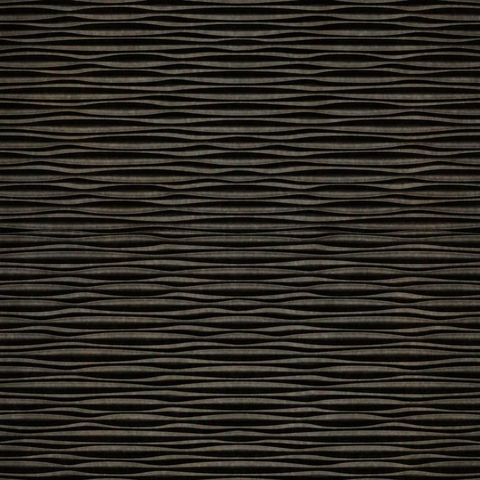 FlexLam 3D Wall Panel | 4ft W x 10ft H | Mojave Pattern | Smoked Pewter Finish