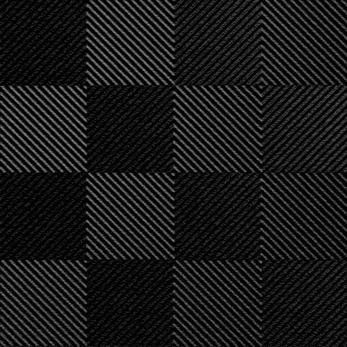 10' Wide x 4' Long Quadro Pattern Eccoflex Black Finish Thermoplastic FlexLam Wall Panel