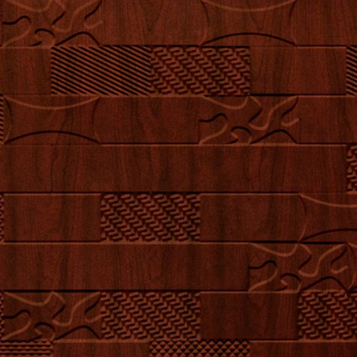 10' Wide x 4' Long Versa-Tile Pattern Welsh Cherry Finish Thermoplastic FlexLam Wall Panel