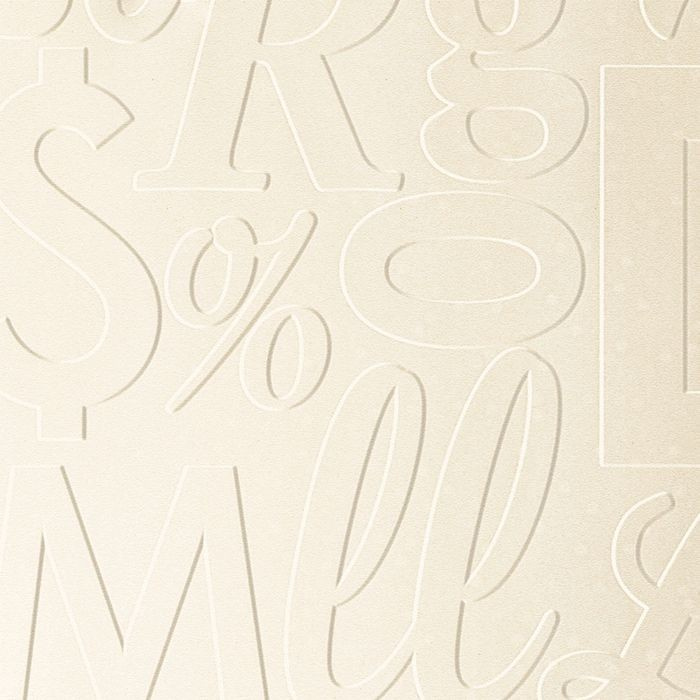 10' Wide x 4' Long Alphabet Soup Pattern Winter White Finish Thermoplastic Flexlam Wall Panel