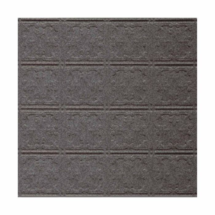 Tin Plated Stamped Steel Ceiling Tile | Nail Up/Glue Up Ceiling Tile | 2ft Sq | Silver Vein Finish