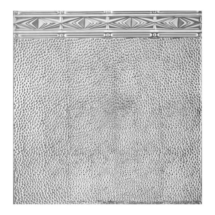 Tin Plated Stamped Steel Ceiling Tile | Nail Up/Glue Up Ceiling Tile | 2ft Sq | White Finish