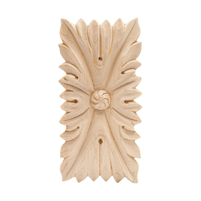 Hand Carved Unfinished | Solid North American Hardwood | Rosette Applique | RWC008 Series