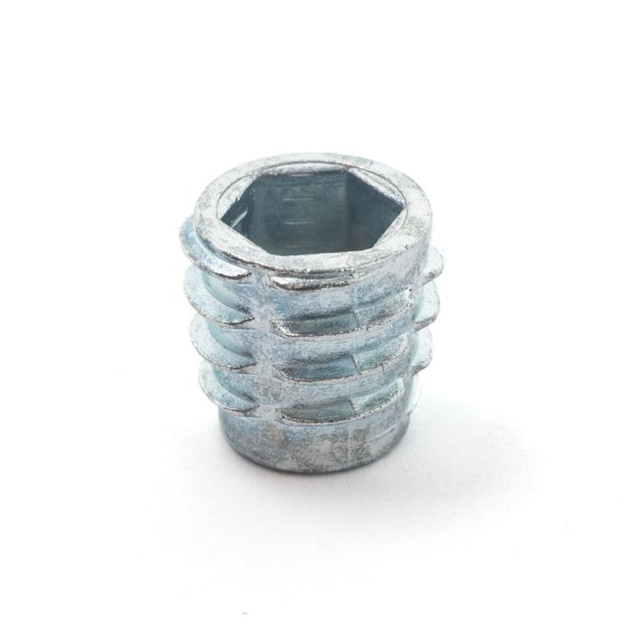 ".559"" Wide Zinc Plated Hardened Steel Insert Nut"