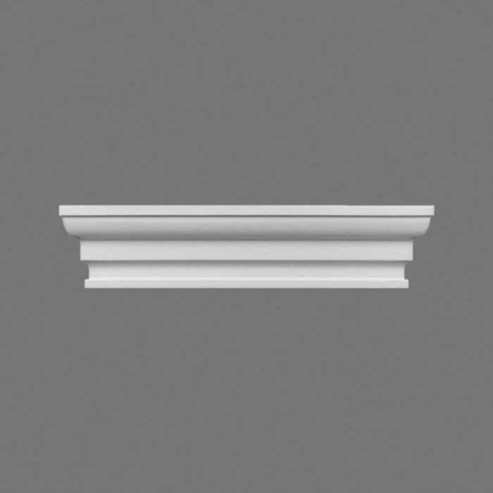 Orac Decor | High Density Polyurethane Double Pilaster Cap | Primed White | 8-7/8in W x 2in H