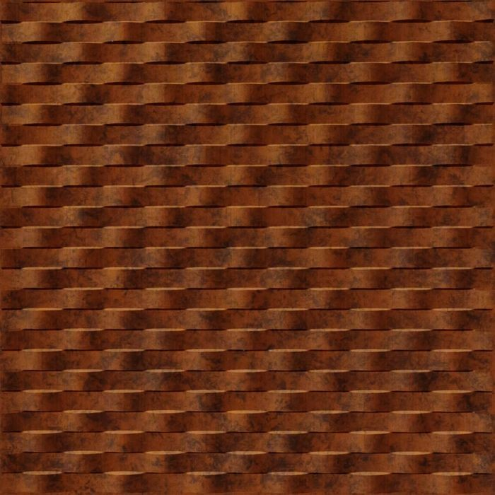 FlexLam 3D Wall Panel | 4ft W x 10ft H | Weave Pattern | Moonstone Copper Finish