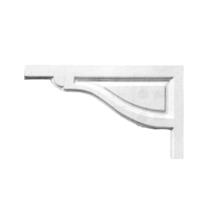"Focal Point 12"" Wide x 6-3/4"" High Primed White Stair Bracket"