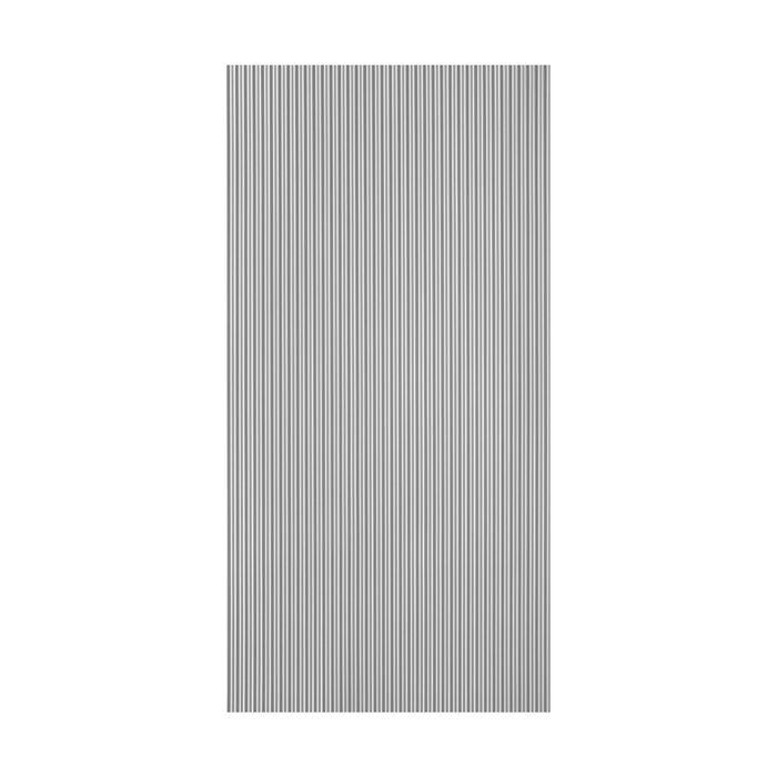 10' Wide x 4' Long Ridges Pattern Argent Copper Finish Thermoplastic Flexlam Wall Panel