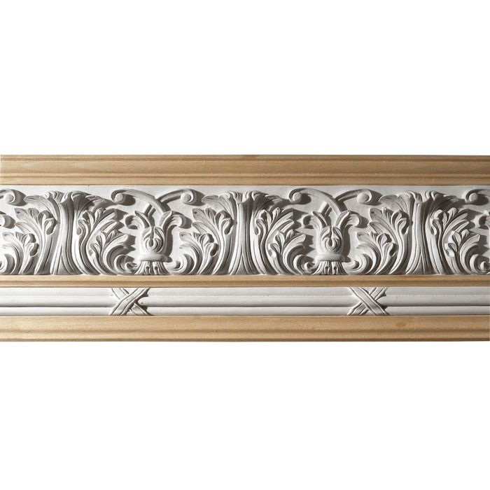 10in H x 1-1/2in Proj | Unfinished Polymer Resin | 480-C Series with Bottom Style 6 | Frieze Moulding | 10ft Long