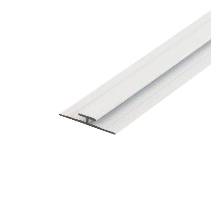 1/16in White Aluminum | Divider Moulding | 12ft Length