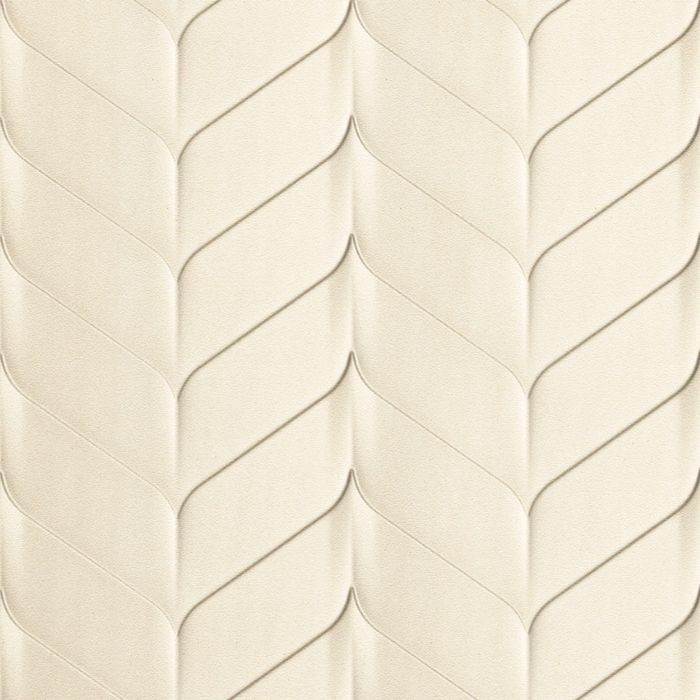 10' Wide x 4' Long Ariel Pattern Winter White Finish Thermoplastic Flexlam Wall Panel