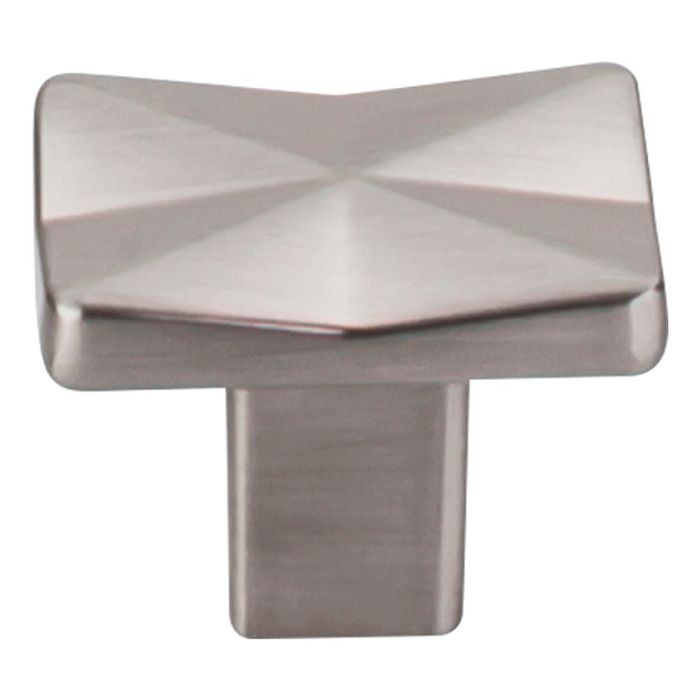 "Quilted Knob 1 1/4"" Brushed Satin Nickel"