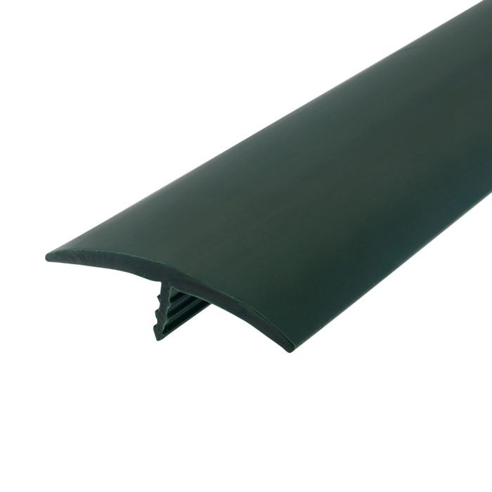 1-1/2in 113 Green Flexible Polyethylene | Center Barb Tee Moulding | 250ft Coil