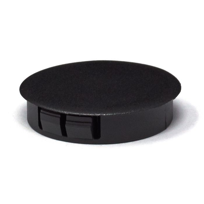 "1-3/4"" Black Nylon Locking Hole Plug"