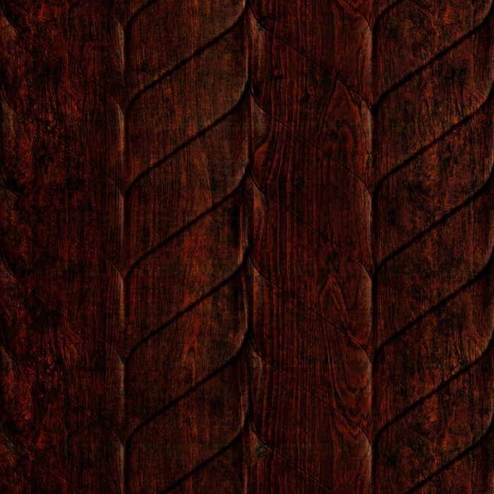10' Wide x 4' Long Ariel Pattern African Cherry Finish Thermoplastic Flexlam Wall Panel