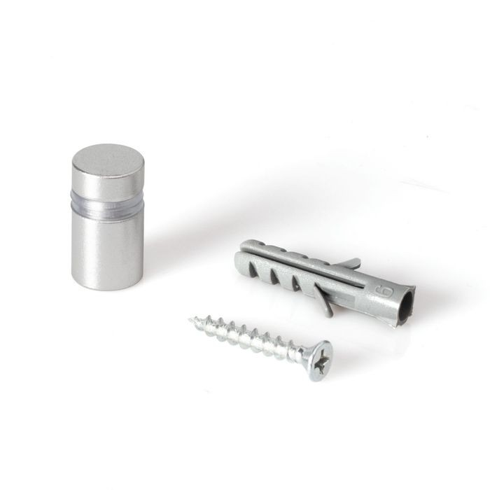 "1/2"" Diameter x 1/2"" Barrel Length Silver Aluminum Eco Series Easy Fasten Standoff"