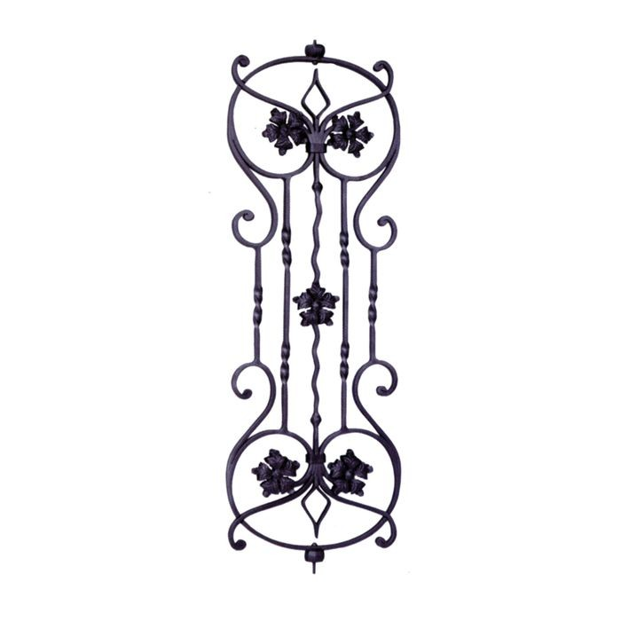 "Wrought Iron Panel 13""W X 37 13/16""H"