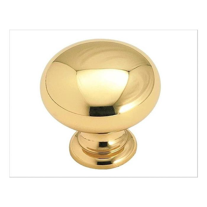 "1 1/4"" Diameter Knob Polished Brass"
