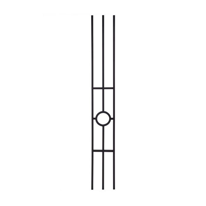 Modern Powder Coated Baluster | Hollow | Oil Rubbed Bronze Finish | Rings | 1/2in Sq x 44in H | PCB-262 Series