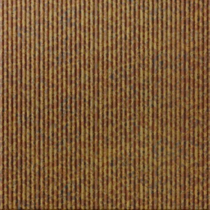 10' Wide x 4' Long Rib1 Pattern Cracked Copper Finish Thermoplastic Flexlam Wall Panel