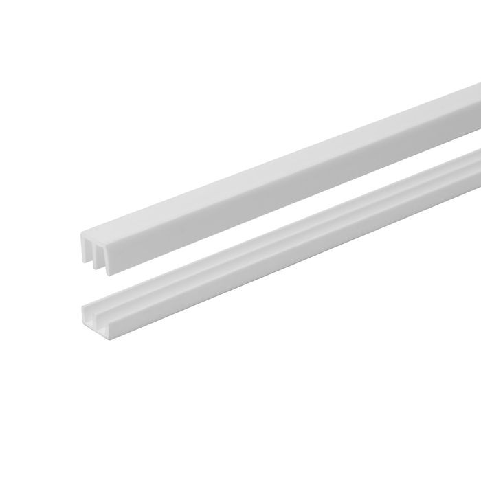"White 1/8"" Upper/Lower Sliding Door Track 12ft"