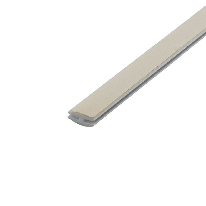 1/16in White Rigid PVC | Divider Moulding With Adhesive | 8ft Length