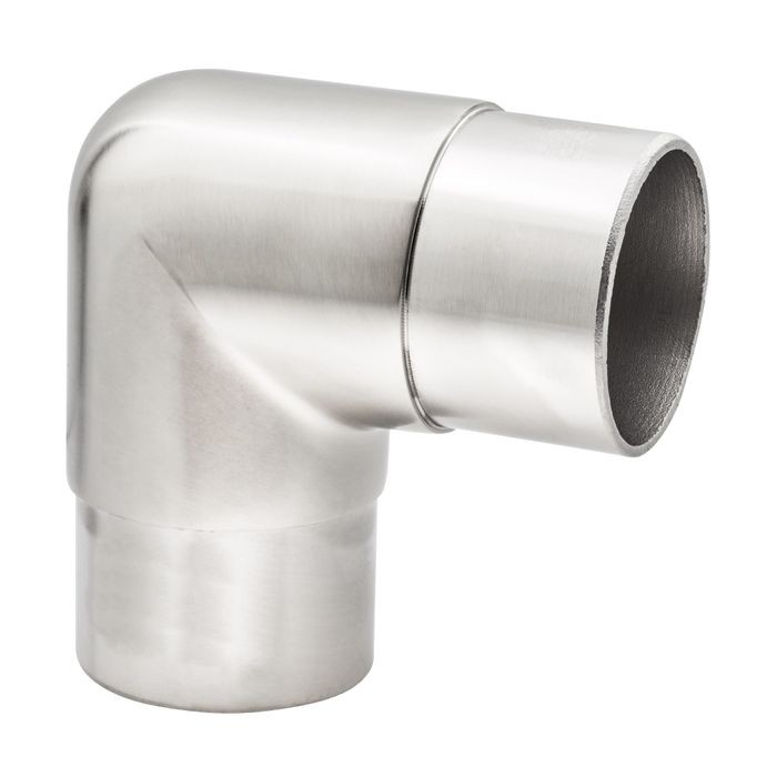 2in Dia x 2-5/8in H | Satin Stainless Steel Finish | 90 Degree Flush Fitting