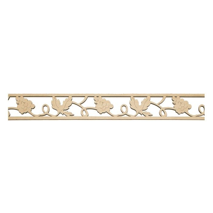 3-1/4in H x 1/4in Proj | Laser Carved Maple Veneer | Frieze Moulding | 47-1/2in Long | Style CWA1