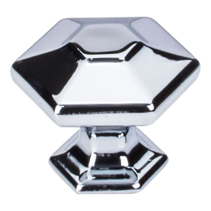 "Spectrum Knob 1 1/4"" Hexagon Polished Chrome"