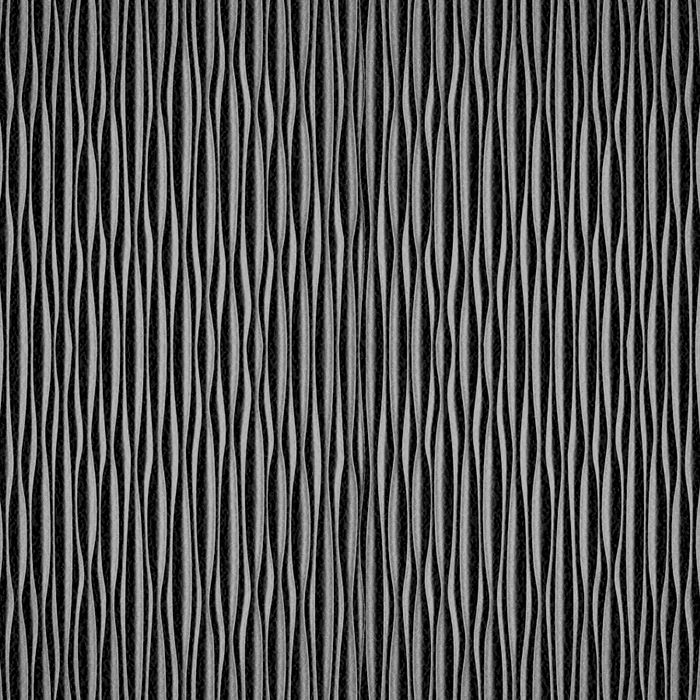 10' Wide x 4' Long Mojave Pattern Eccoflex Black Vertical Finish Thermoplastic Flexlam Wall Panel