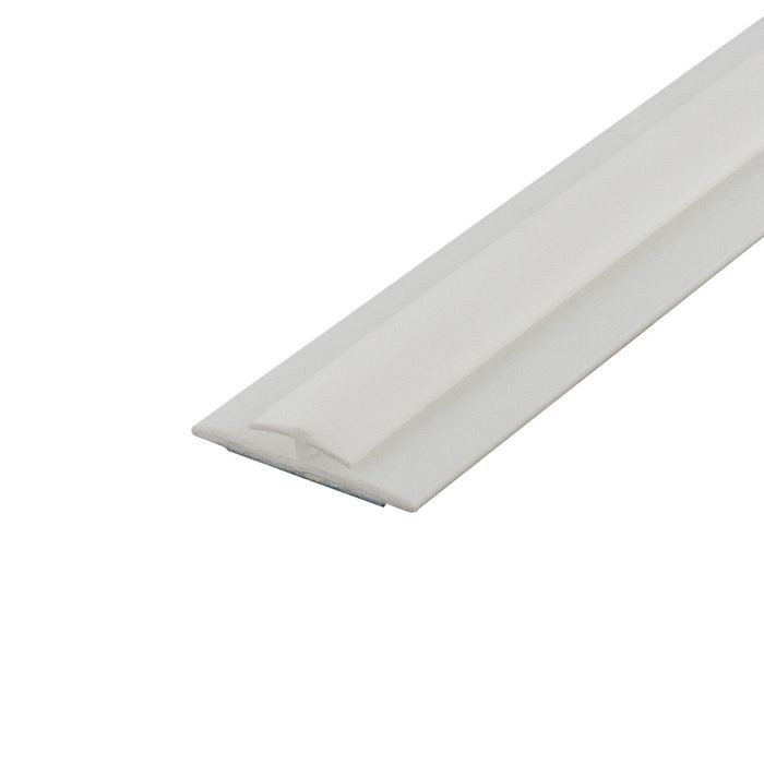 1/16in White Styrene | Divider Moulding With Adhesive | 8ft Length