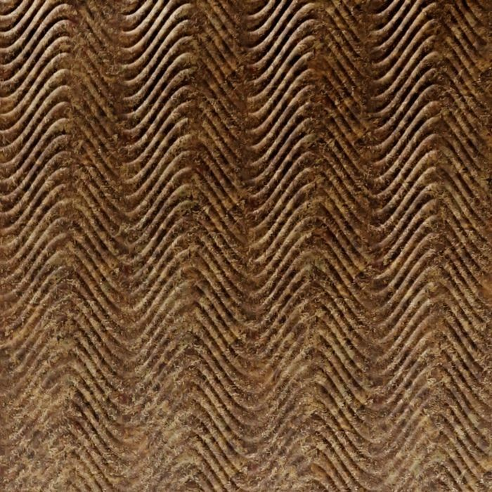 10' Wide x 4' Long Curves Pattern Bronze Fantasy Finish Thermoplastic Flexlam Wall Panel