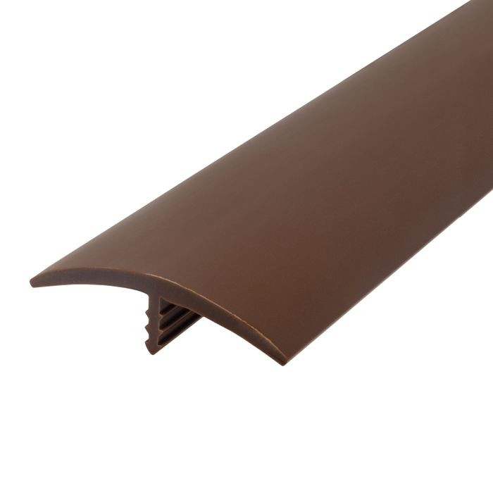 1-1/2in 315 Brown Flexible Polyethylene | Center Barb Tee Moulding | 250ft Coil