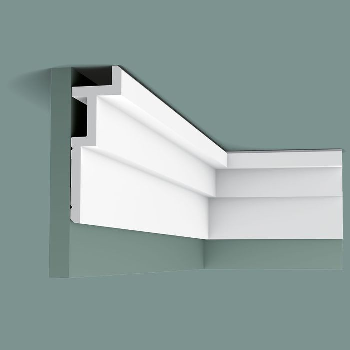 Orac Decor | High Density Polyurethane Crown Moulding | Primed White | 7-1/2in Face x 78in Long | C396
