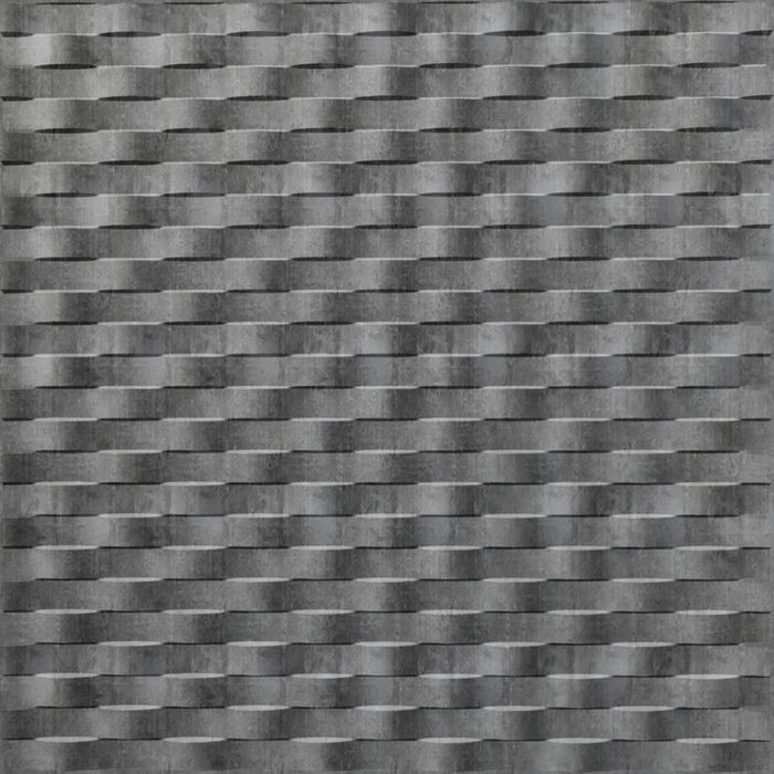 FlexLam 3D Wall Panel | 4ft W x 10ft H | Weave Pattern | Crosshatch Silver Finish