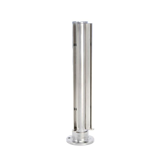 1-1/2in Dia x 12in H | Polished Stainless Steel Finish | Partition Corner Post