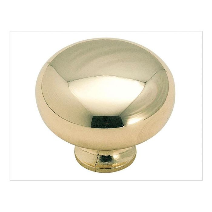 "1 1/2""  Diameter Knob Polished Brass"