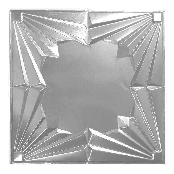 Tin Plated Stamped Steel Ceiling Tile | Nail Up/Glue Up Ceiling Tile | 2ft Sq | Brass Finish