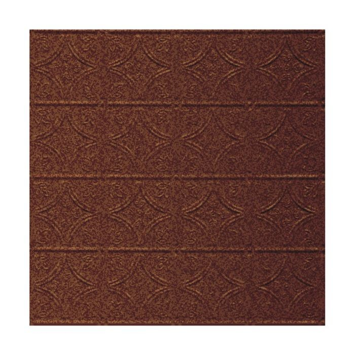 Tin Plated Stamped Steel Ceiling Tile | Nail Up/Glue Up Ceiling Tile | 2ft Sq | Cherrywood Finish