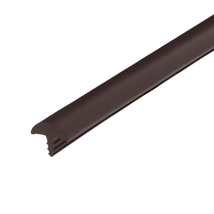 1/2in Brown Flexible PVC | Round Bumper Tee Moulding | 250ft Coil
