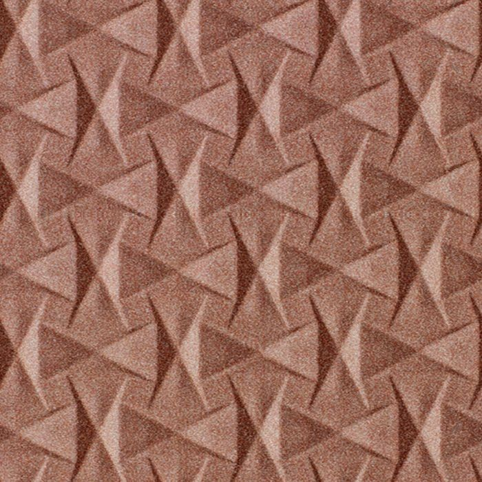 10' Wide x 4' Long Bowtie Pattern Argent Copper Finish Thermoplastic Flexlam Wall Panel