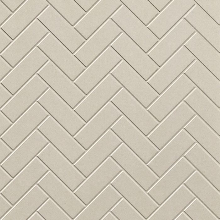 10' Wide x 4' Long Herringbone Pattern Winter White Finish Thermoplastic Flexlam Wall Panel