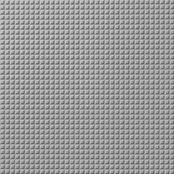10' Wide x 4' Long Square 5 Pattern Argent Silver Finish Thermoplastic Flexlam Wall Panel